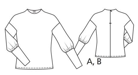 BurdaStyle Puffed Sleeve sweater