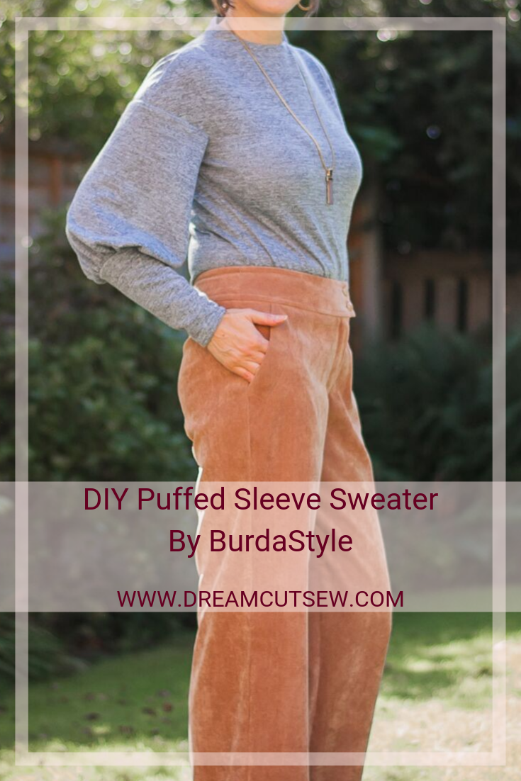 Pinterest image for BurdaStyle Sweater