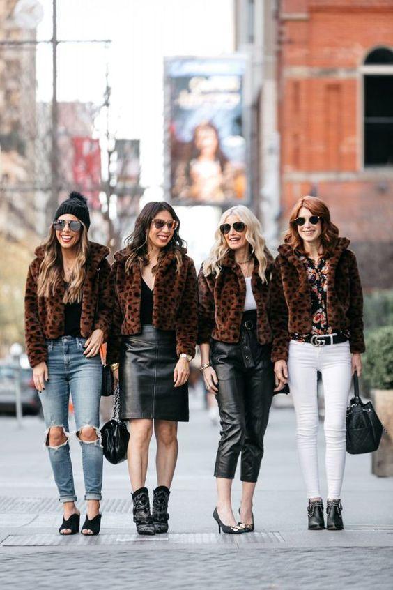 5 things inspiring inspiring me: Faux fur jacket styling inspiration.