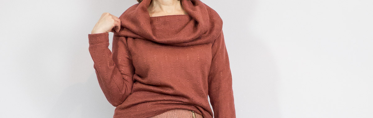 Pointelle sweater to wear with BurdaStyle skirt
