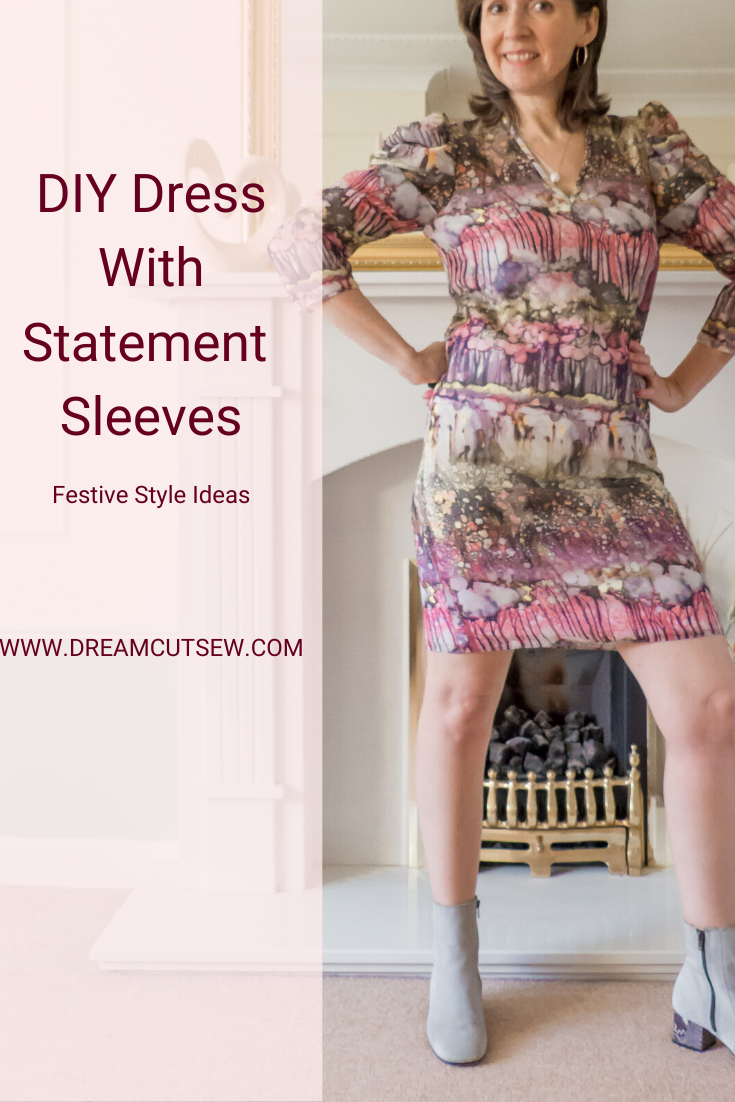 Pinterest image for dress with statement sleeves