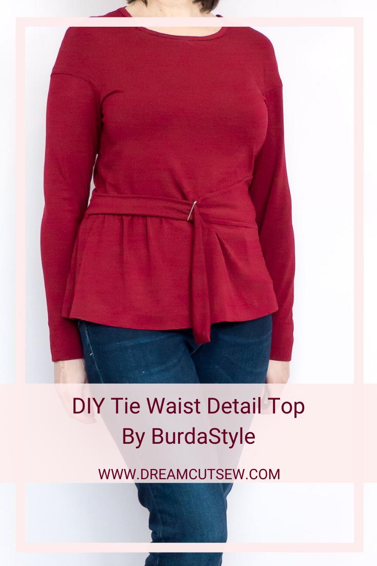Pinterest Image for BurdaStyle  waist-detail top