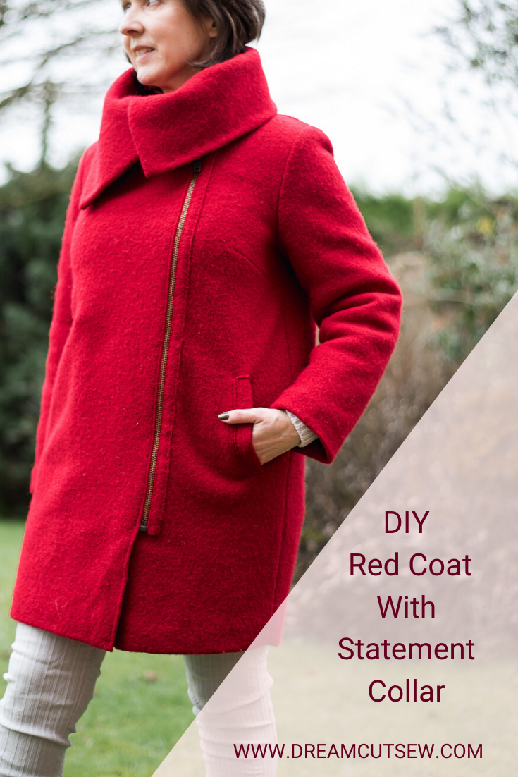 Pinterest image for DIY Red Coat