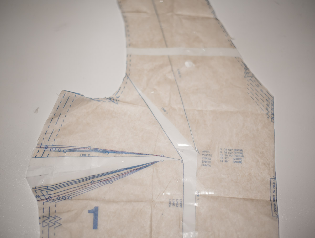 Full bust adjustment  on DIY Cropped sweater using McCalls 7445