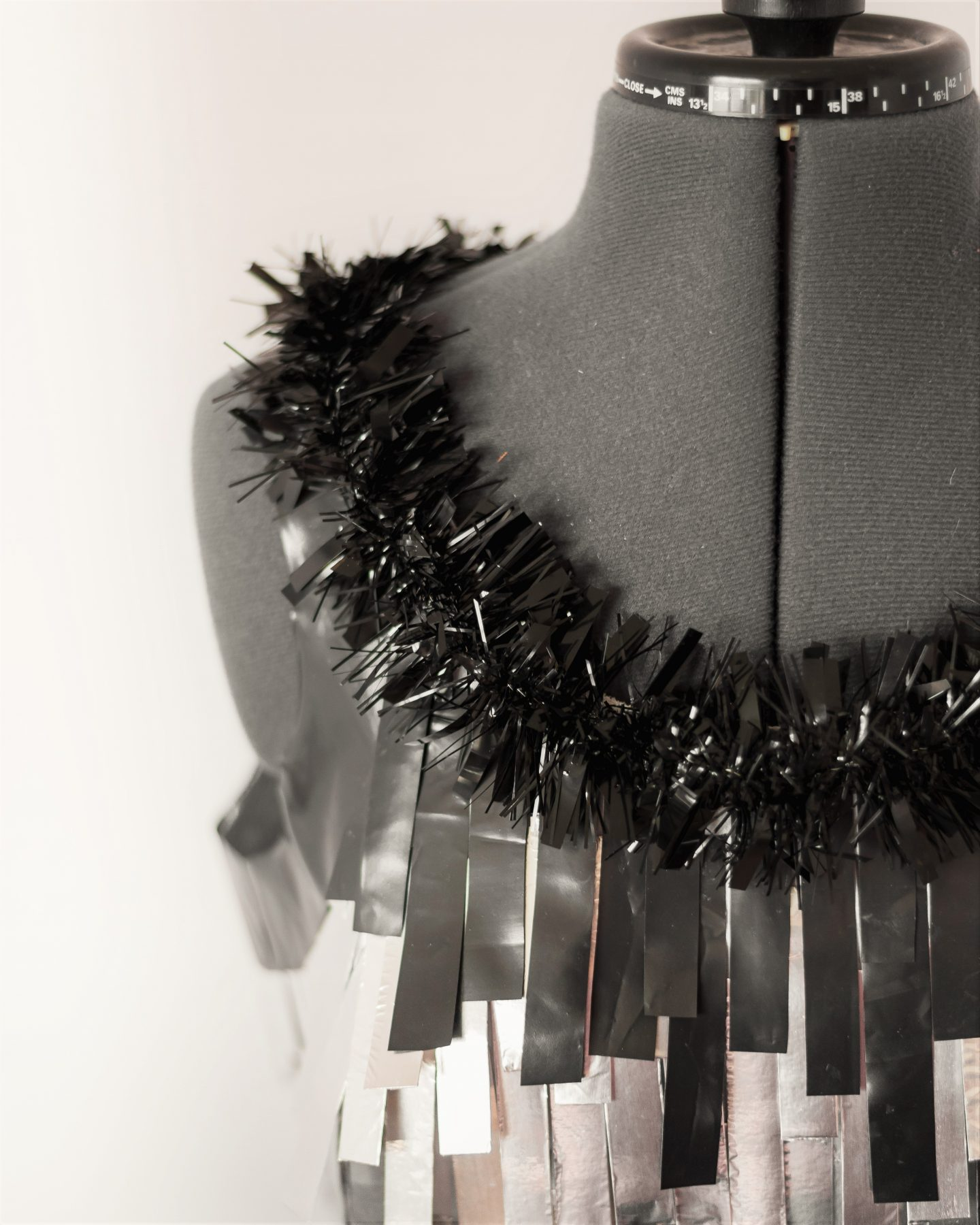 An Unconventional Cocktail Outfit. Neckline close-up