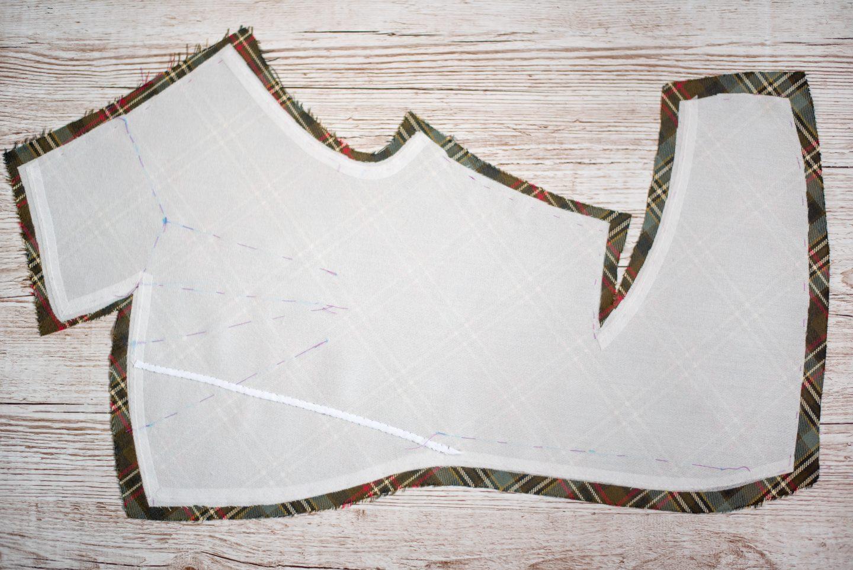 DIY Tartan Jacket. Front piece