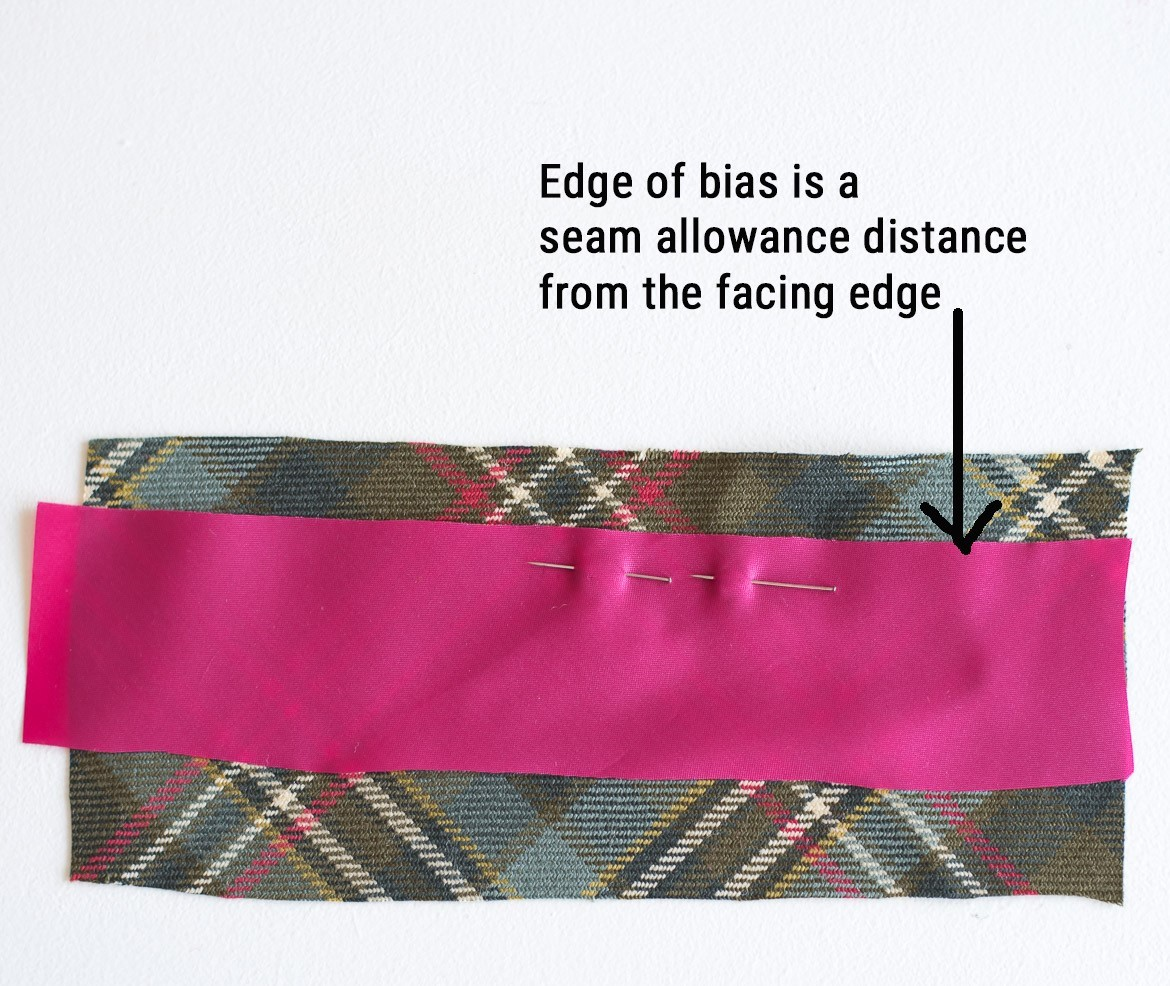 Tutorial: Add bias insert detail to a jacket lining. Step 2