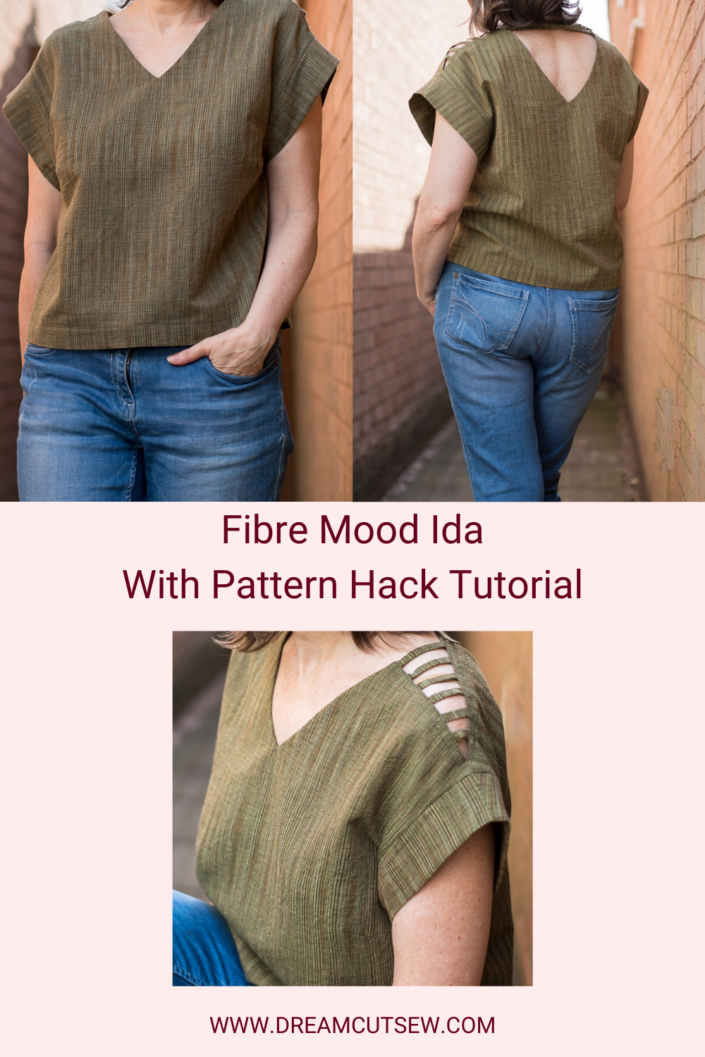 Fibre Mood Ida with added pattern hack. Pinterest Image