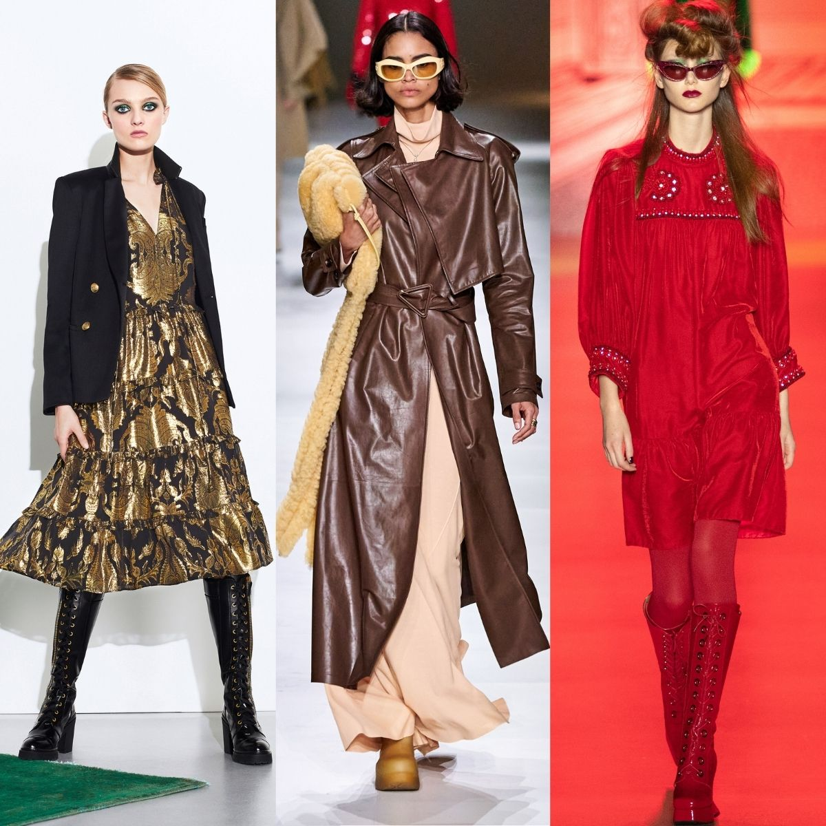 Runway images. Alice and Olivia Bottega Veneta and Anna Sui