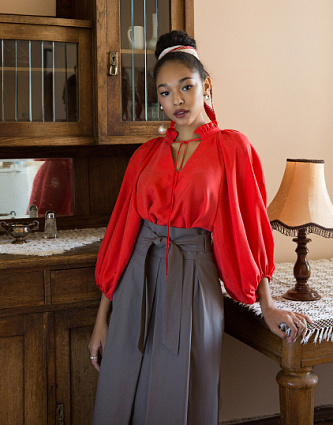 Sewing Inspiration Autumn Trends 2020 Balloon sleeved blouse by Grasser patterns