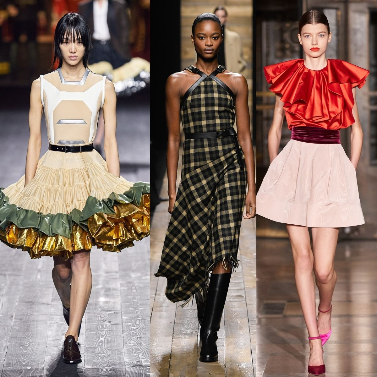 Louis Vuitton. Michael Kors and Oscar De La Renta runway images