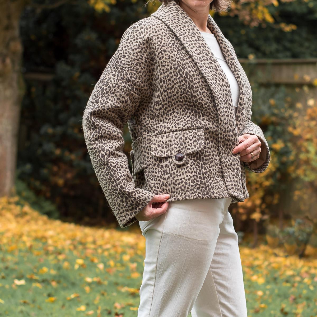 DIY Casual leopard print coat