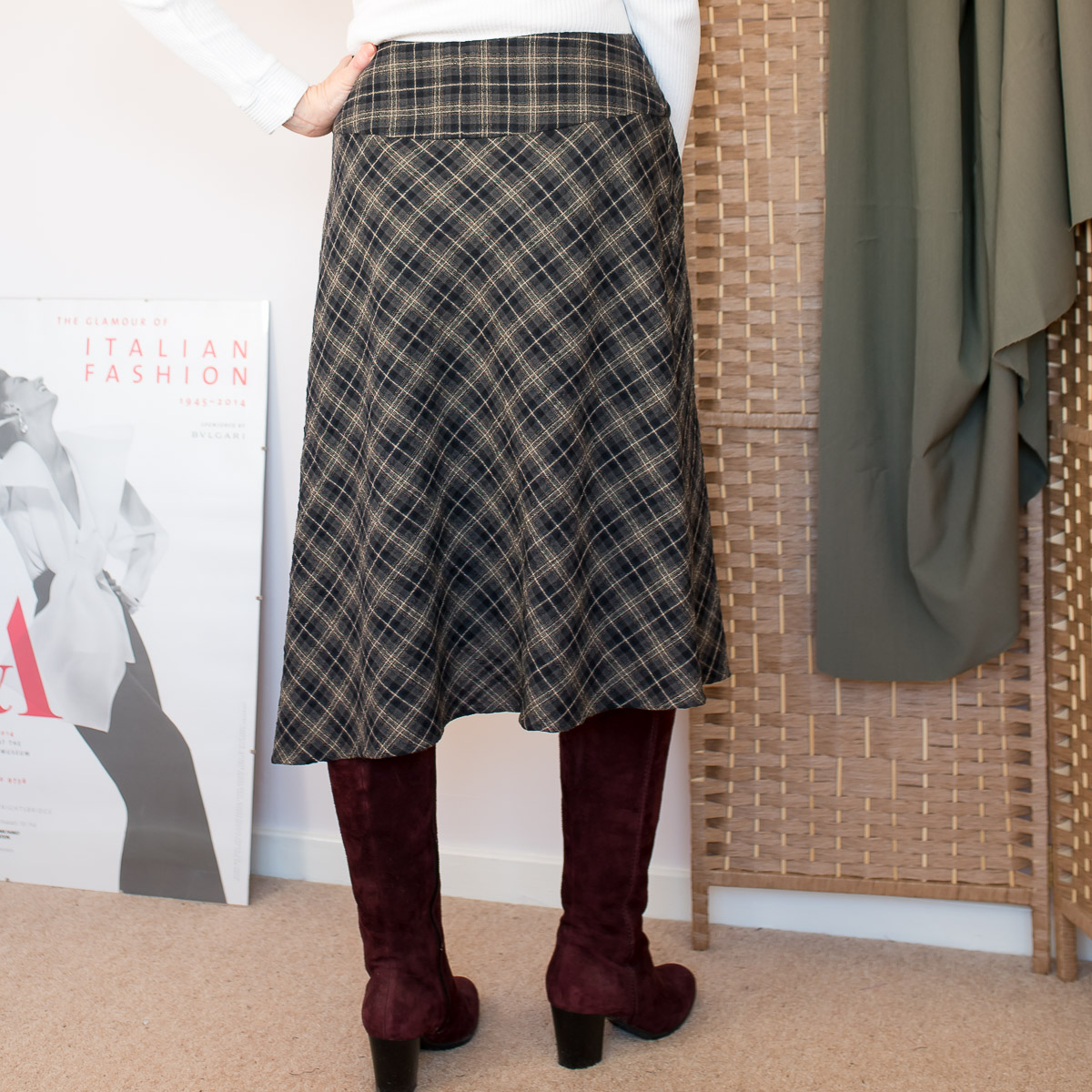Asymmetric Drape Skirt