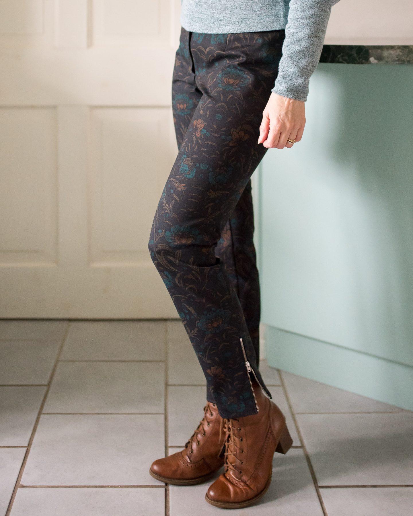 Floral Ponte Pants