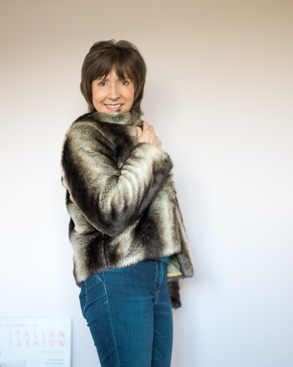 Self-Drafted Faux Fur Jacket