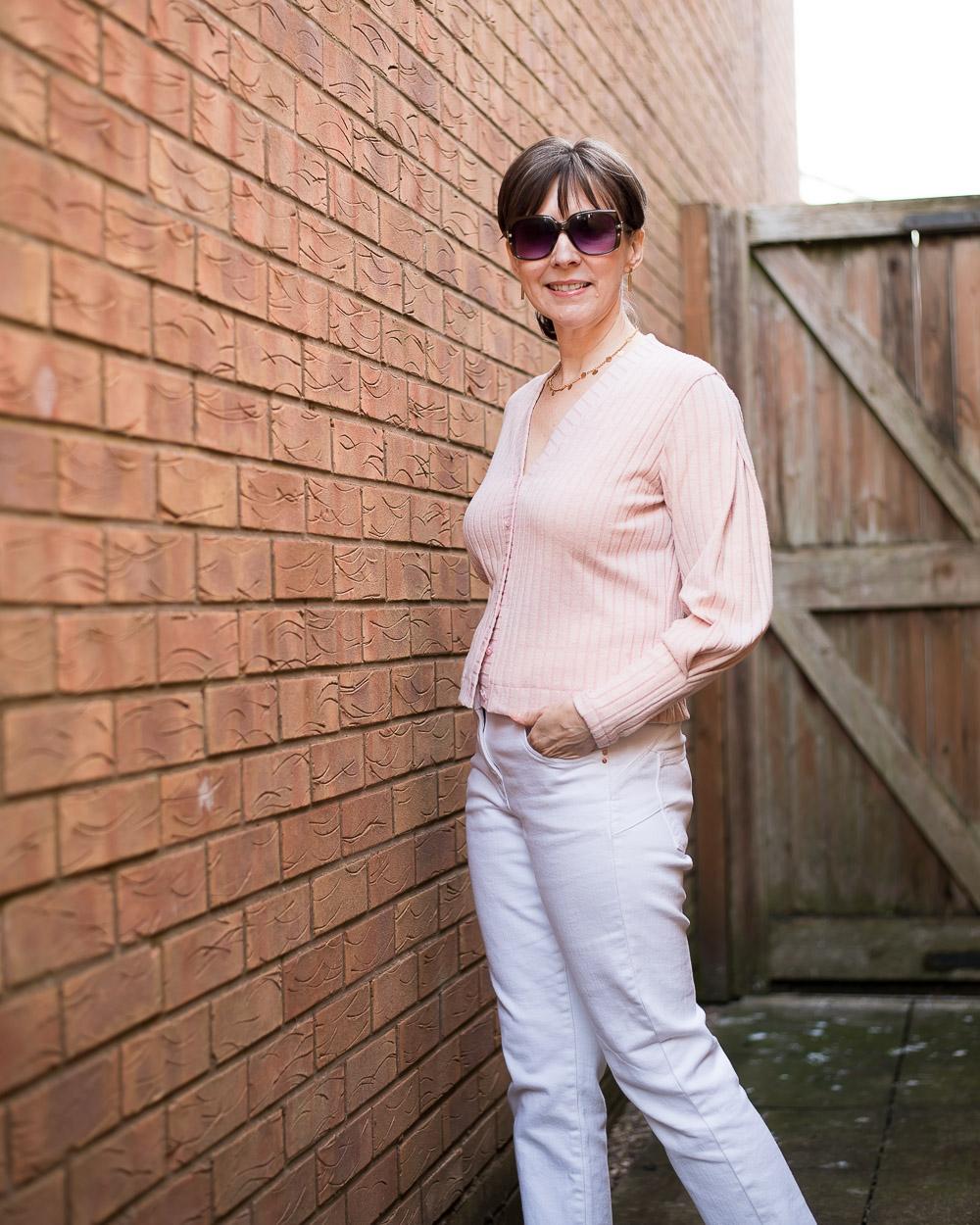 The joy of basics with a twist. Blush cardigan