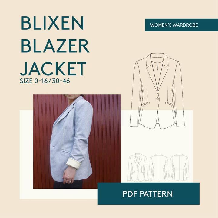 Blixen Blazer by Wardrobe By Me : Sewing Inspiration: Autumn/Winter Trends 21/22