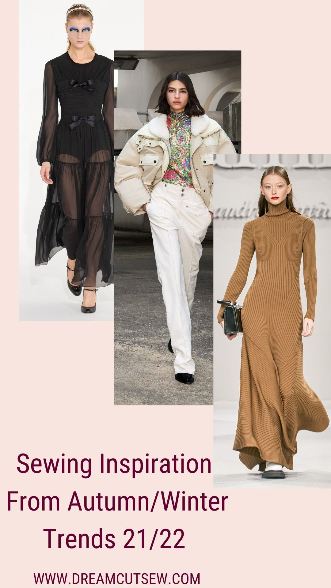 Sewing Inspiration: Autumn/Winter Trends 21/22  Pinterest image